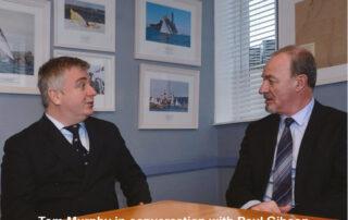 Tom Murphy (L) MLP and Paul Gibson (R) from Irish Broker